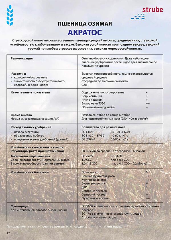 Заказать.Купить озимую пшеницу АКРАТОС